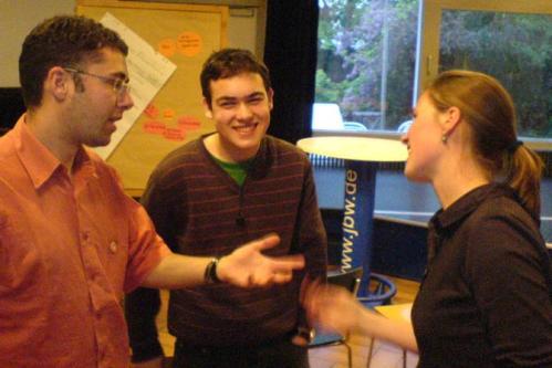 Auftaktveranstaltung zum Jugendgremium: Diskutieren ist immer gut.