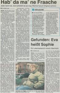 Thüringische Landeszeitung vom 30. Dezember 2000