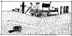 David Lean komponiert: Hinter einer Sanddüne kommt ein Schiff vorbei. Vorher schon hören wir: Ein Schiffshorn tuten. Zwei Männer haben gerade wochenlang eine Wüste durchquert. »Ich glaube, wir sind da.«