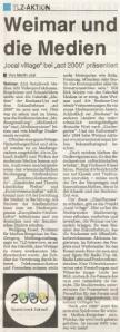 Thüringische Landeszeitung (TLZ) Weimar vom 6. Dezember 2000