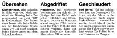 Polizeimeldungen, TLZ 12.04.01
