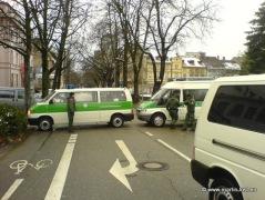 Polizeiabsperrung Eisenbahnstraße