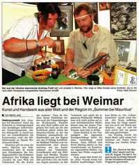 Afrika liegt bei Weimar Artikel