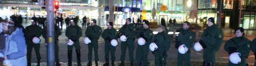 Polizei-Spalier