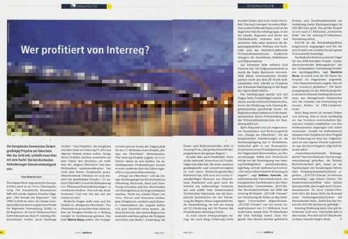 Bild des Artikels Wer profitiert von Interreg in Baden Intern