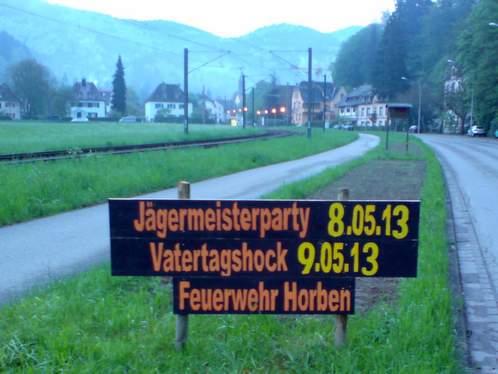 Jägermeisterparty, Vatertagshock Horben