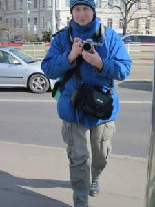 Martin fotografiert Prag