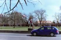 Straßenschild Prag